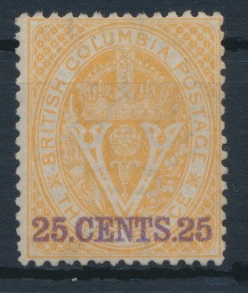 British Columbia and Vancouver 1868 SG 31. *