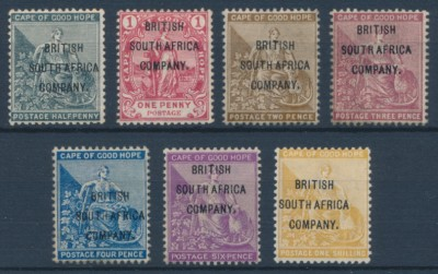 British South Africa Company (Rhodesia) 1896 SG 58-64. Серия 7 марок. *