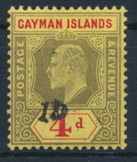 Cayman Islands 1907 SG note after 35. **