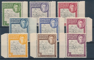 Falkland Islands Dependencies 1946 SG G9-G16. Серия 9 марок. **