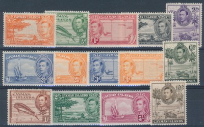 Cayman Islands 1938 SG 115-126a. Серия 14 марок. **
