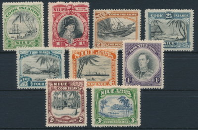 Niue Cook Islands 1944 SG 89-97. Серия 9 марок. **